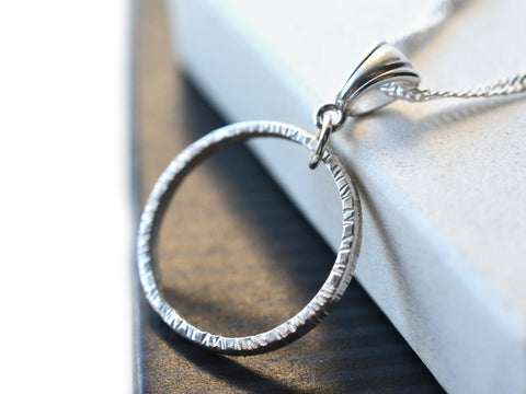 Handmade Sterling Silver Circle Necklace