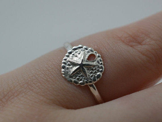 Handmade Sterling Silver Sea Cookie Ring