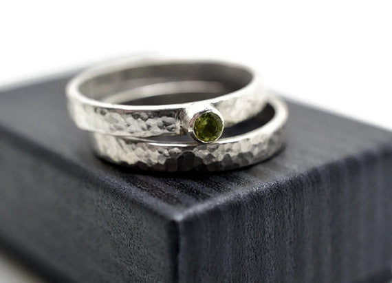 Handmade Peridot Women's Wedding Set