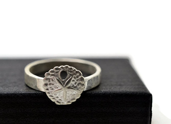 Handmade Sterling Silver Sand Dollar Ring