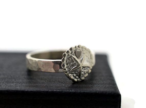 Engravable Sterling Sea Cookie Ring