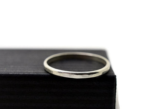 Hammered Sterling Silver Stack Ring