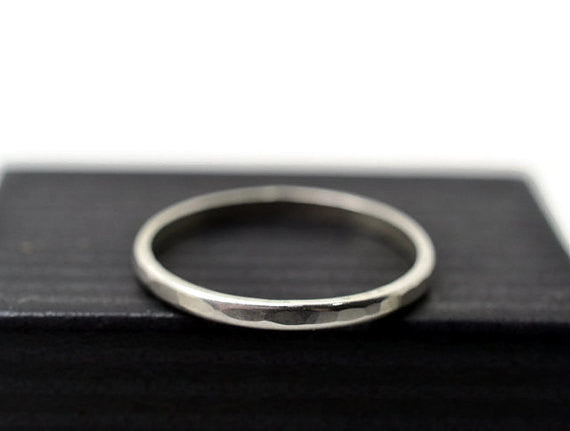 Handforged Sterling Silver Stacking Ring