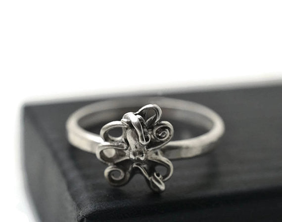 Handmade Sterling Silver Octopus Ring