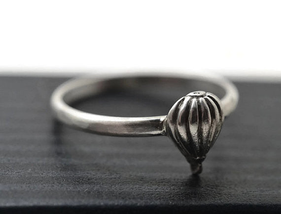 Handmade Boho Sterling Silver Hot Air Balloon Ring