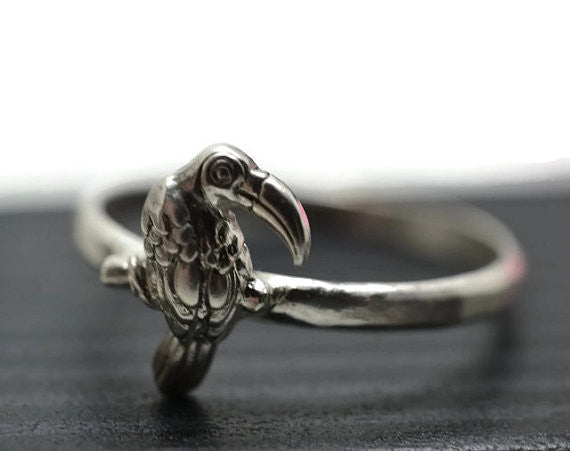 Sterling Silver Toucan Charm Ring