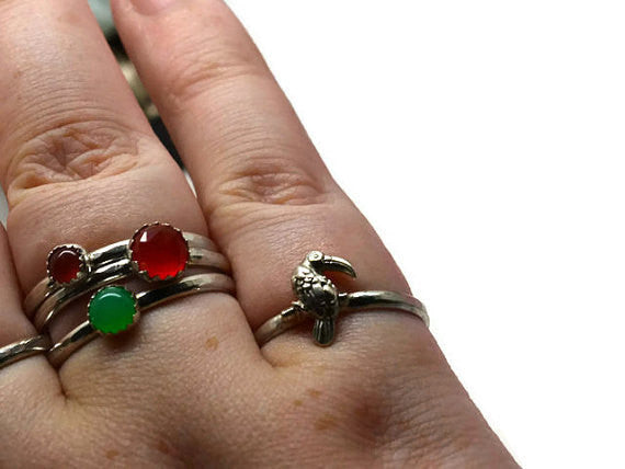 Handmade Sterling Silver Toucan Ring