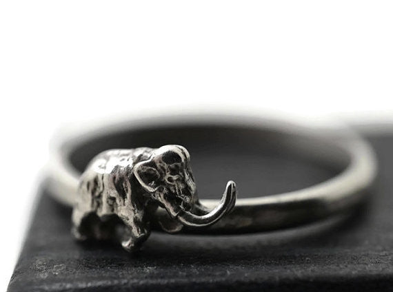 Sterling Silver Woolly Mammoth Ring