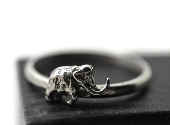 Handforged Woolly Mammoth Ring