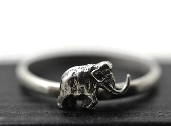 Handmade Woolly Mammoth Ring