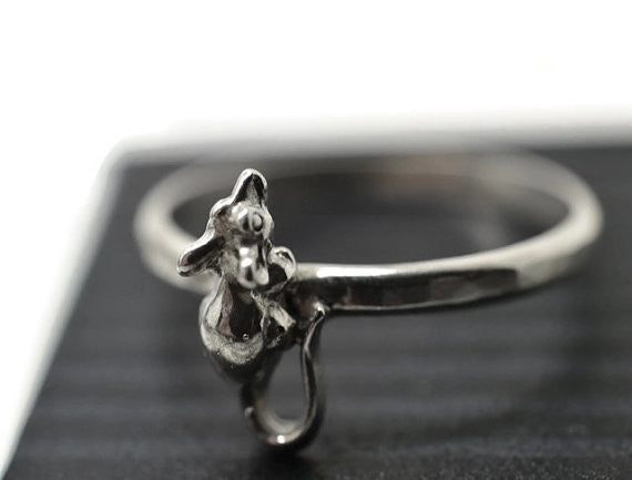 Handforged Sterling Silver Rat Ring