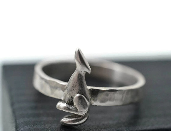 Handmade Sterling Silver Coyote Ring