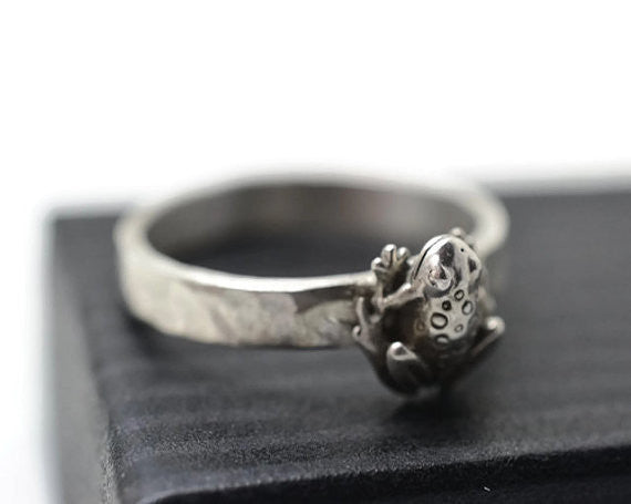 Handforged Sterling Silver Toad Ring