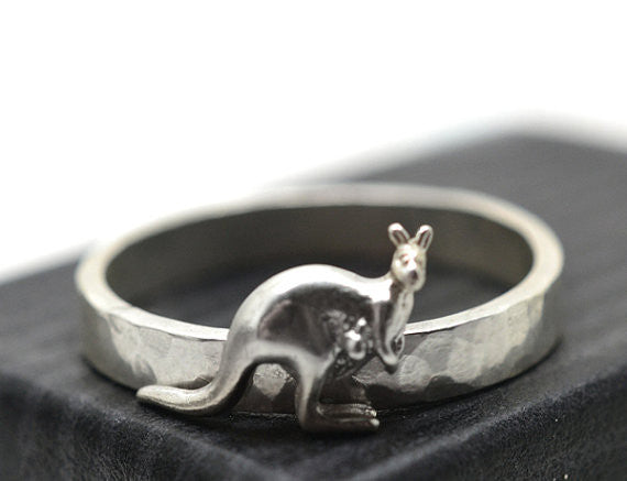 Handmade Silver Wallaby Ring