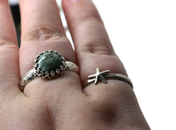 Dainty Silver Starfish Ring