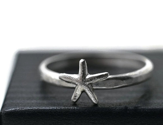 Little Silver Starfish Ring