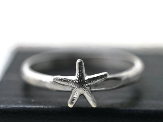 Handforged Silver Starfish Ring