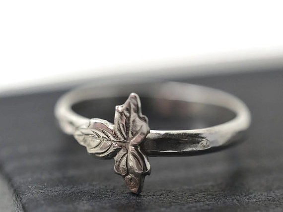 Handmade Woodland Leaf Ring