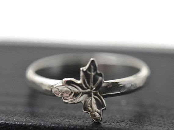 Handmade Silver Leaf Ring