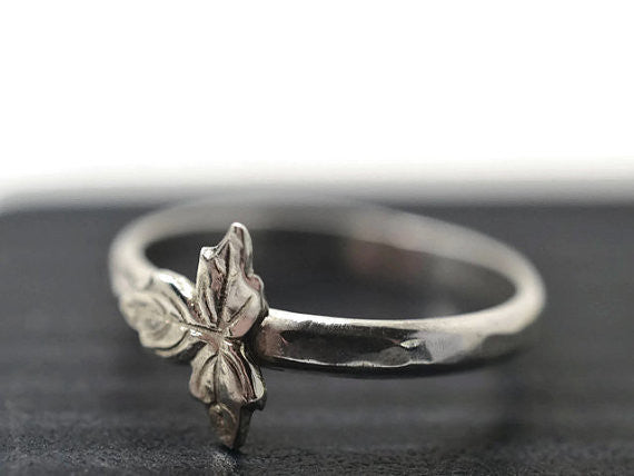 Handmade Sterling Silver Leaf Ring