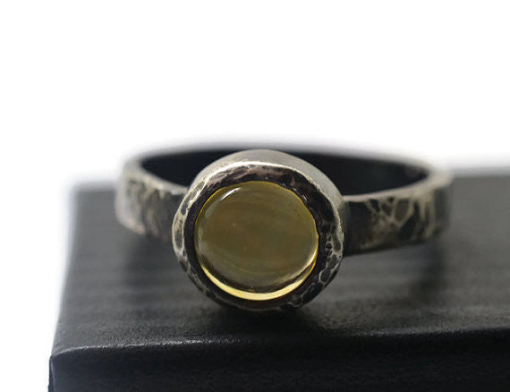 Handmade Citrine Statement Ring