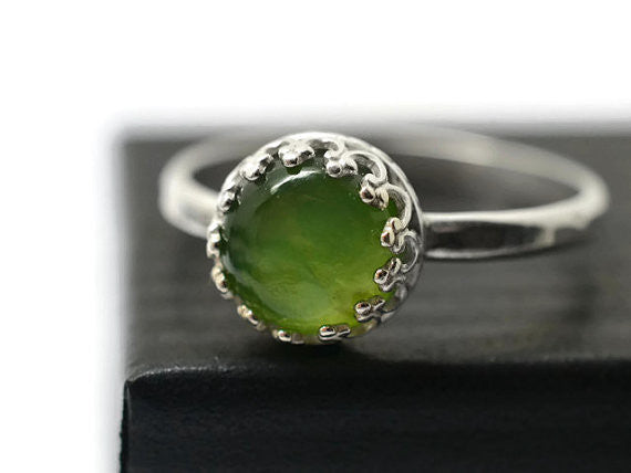 Handforged Serpentine Ring in Sterling Silver