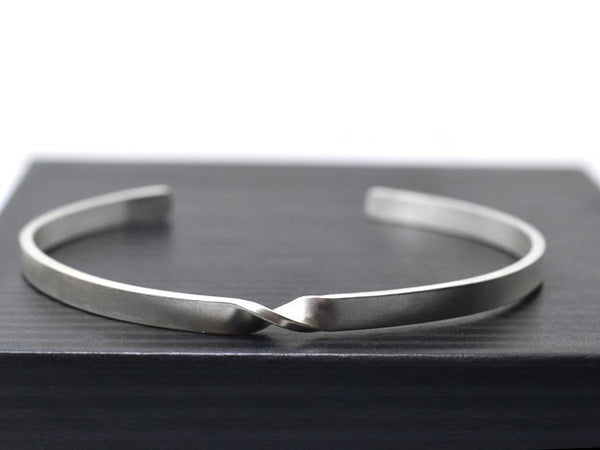 Adjustable Sterling Silver Mobius Twist Cuff