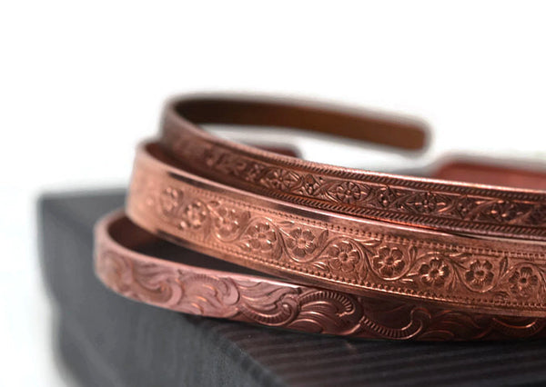 Copper Cuff Bangle Set
