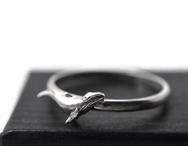 Sterling Silver Humpback Whale Ring