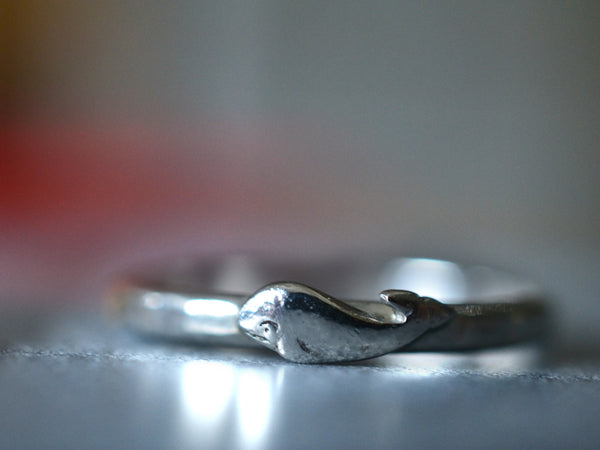 Little Whale Ring in Sterling Silver