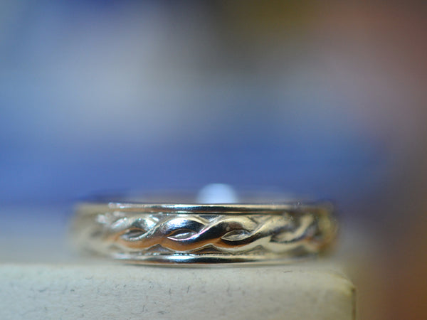Handmade Sterling Silver Celtic Wedding Band with Engraving
