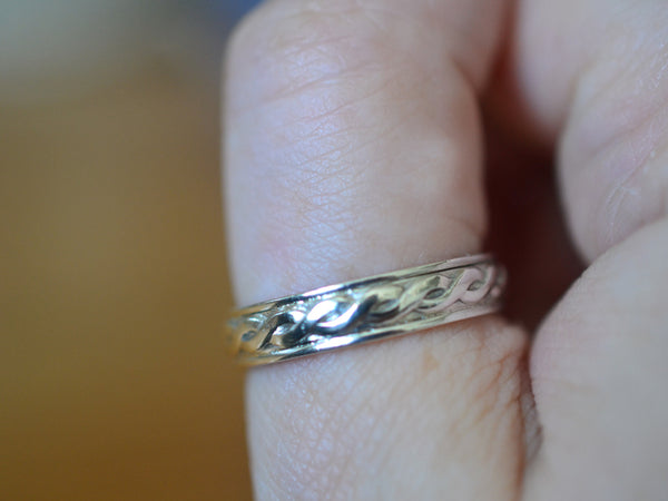 Handmade Sterling Silver Celtic Wedding Ring