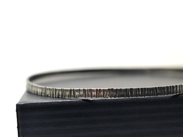 Oxidized Sterling Silver Tree Bark Bangle