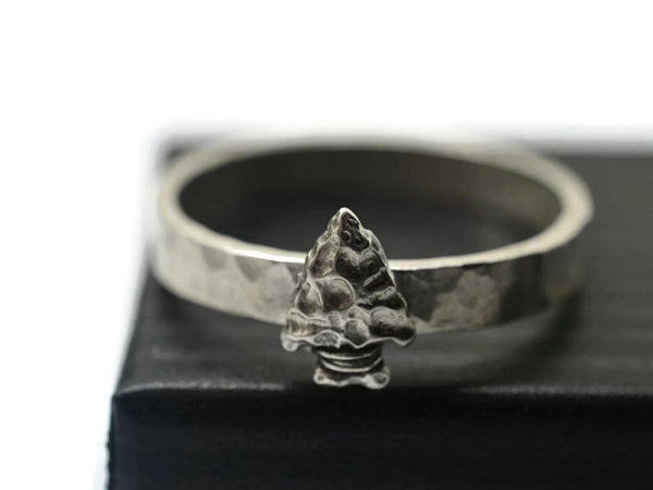 Neolithic Inspired Arrow Head Ring
