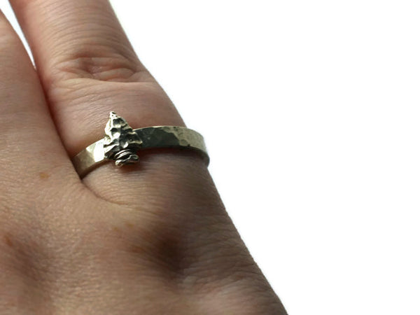 Prehistoric Inspired Arrow Ring
