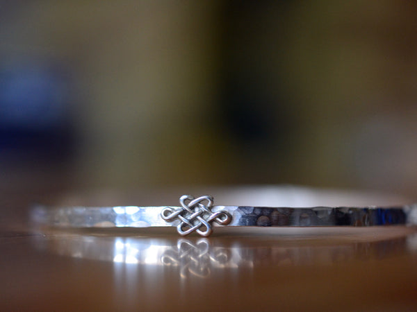 Handmade Sterling Silver Celtic Knot Charm Bangle