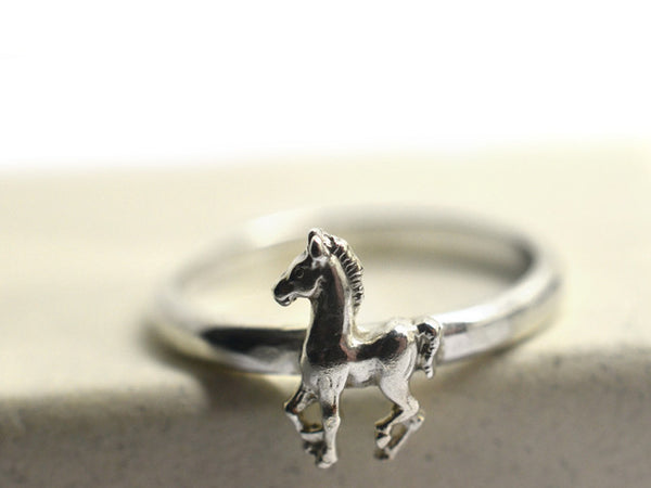 Handmade Silver Horse Ring