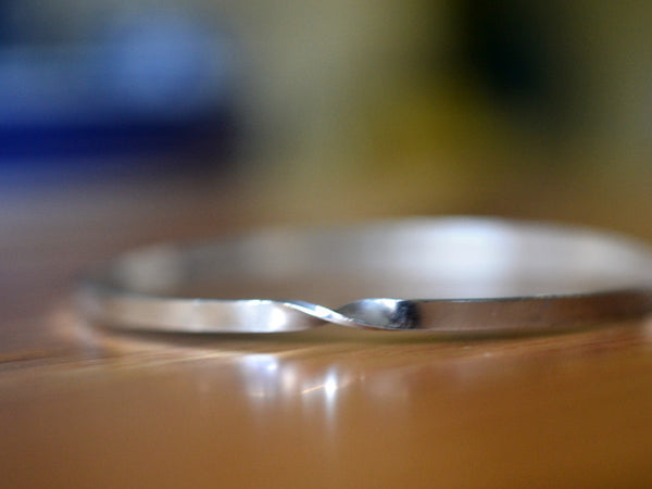 Handmade Sterling Silver Mobius Bangle