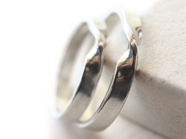Engravable Sterling Silver Mobius Strip Wedding Bands