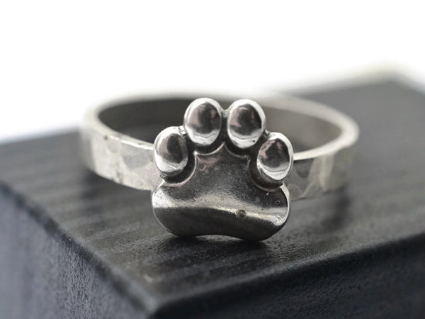 Handmade Silver Animal Paw Ring