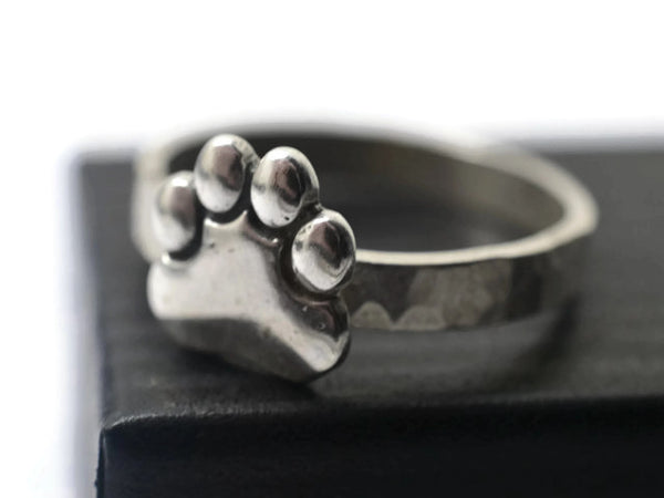 Handmade Sterling Silver Paw Print Ring