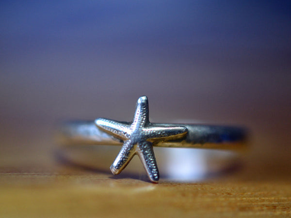 Handmade Sterling Silver Starfish Ring