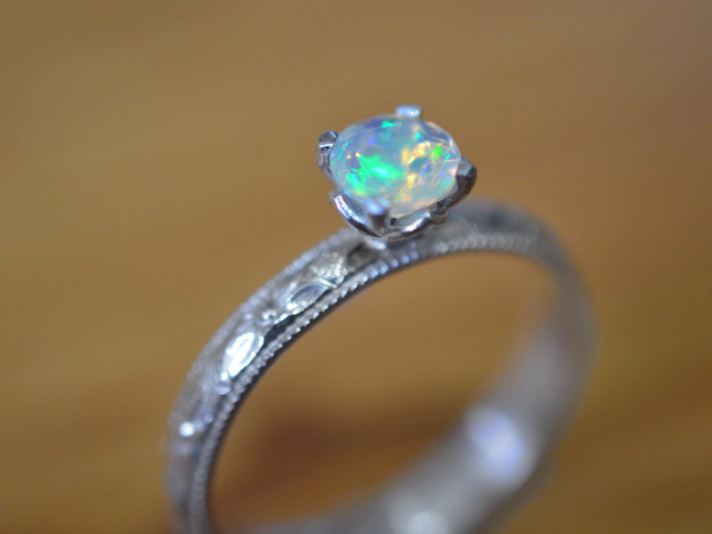 rings silver diamond opal sterling flower with made in fullxfull engagement gold cz ring or design il rose man