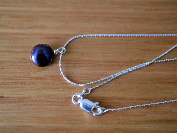 Handmade Simple Sterling Silver Dainty Pearl Necklace