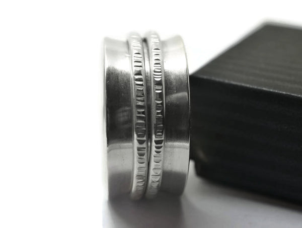 Handmade Sterling Silver Double Band Spinning Ring