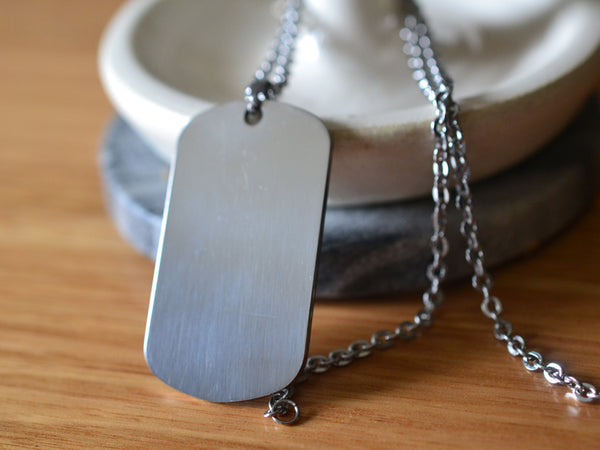 Stainless Steel Dog Tag For Engraving