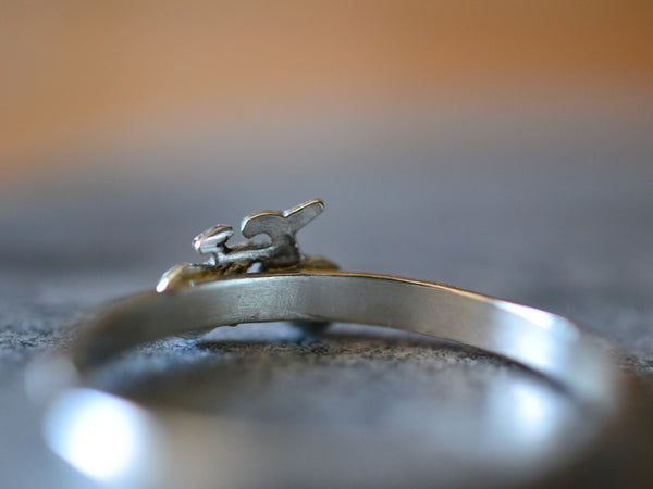 Personalised Sterling Silver Cycling Ring