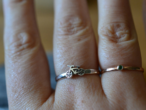 Women's Sterling Silver Bicycling Ring
