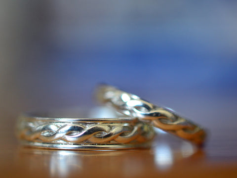 Customised Sterling Silver Celtic Style Commitment Rings
