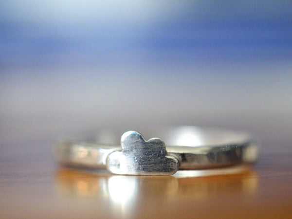 Handmade Sterling Silver Rain Cloud Ring